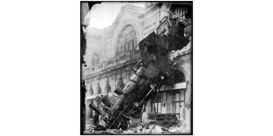 LC Montage - Train Wreck at Montparnasse 1895