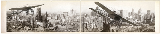 LC Montage - San Francisco Earthquake & Flying Machine LOC