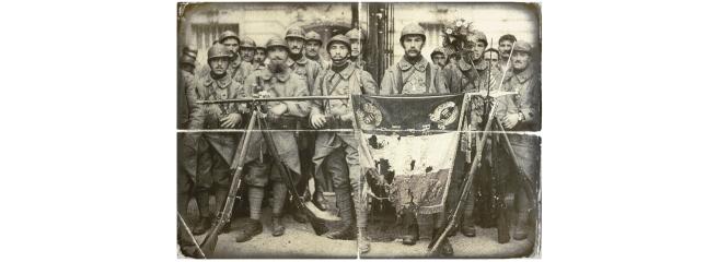 Post Card - El_114_de_infantería,_en_París,_el_14_de_julio_de_1917,_León_Gimpel Coll Post Card Aged